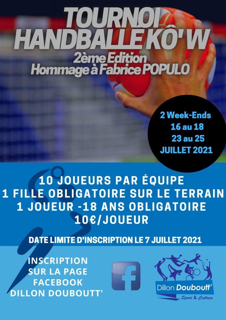 Tournoi Handballé Kô'w 2ème Edition