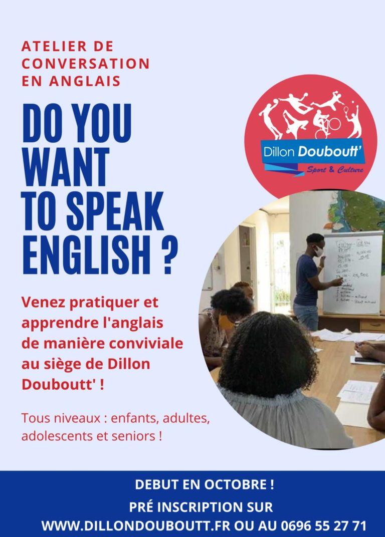 Inscription aux ateliers d'anglais